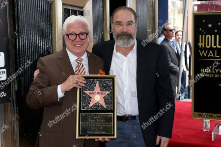Mandy Patinkin, Vin Di Bona. Vin Di Bona, left, and Mandy Patinkin pose for a photo at the ceremony honoring Mandy Patinkin with a star at the Hollywood Walk of Fame, in Los Angeles