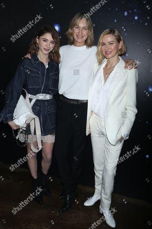 Natalia Dyer, Cecilia Bonstrom, Fashion Designer for Zadig and Voltaire, and Naomi Watts