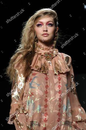 Gigi Hadid on the catwalk