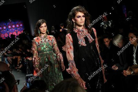 Bella Hadid and Kaia Gerber on the catwalk