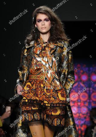 Kaia Gerber on the catwalk