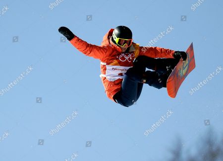Mirabelle Thovex, of France, during the women's halfpipe finals at Phoenix Snow Park at the 2018 Winter Olympics in Pyeongchang, South Korea