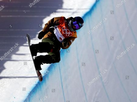 Queralt Castellet, of Spain, runs the course during the women's halfpipe finals at Phoenix Snow Park at the 2018 Winter Olympics in Pyeongchang, South Korea
