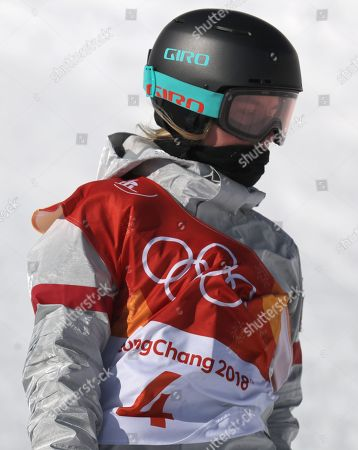Maddie Mastro of the US during the Women's Snowboard Halfpipe final at the Bokwang Phoenix Park during the PyeongChang 2018 Olympic Games, South Korea, 13 February 2018.