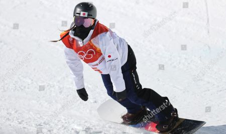 Haruna Matsumoto of Japan during the Women's Snowboard Halfpipe final at the Bokwang Phoenix Park during the PyeongChang 2018 Olympic Games, South Korea, 13 February 2018.