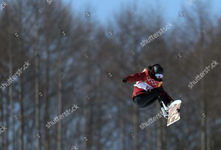 Liu Jiayu of China competes in the Women's Snowboard Halfpipe final competition at the Bokwang Phoenix Park during the PyeongChang 2018 Olympic Games, South Korea, 13 February 2018.