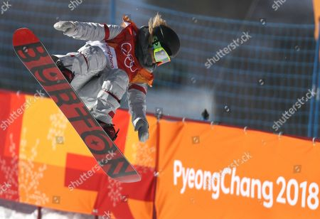 Chloe Kim of the US competes for her first place gold medal win in the Women's Snowboard Halfpipe final at the Bokwang Phoenix Park during the PyeongChang 2018 Olympic Games, South Korea, 13 February 2018.