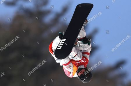 Arielle Gold of the US in action during the Women's Snowboard Halfpipe final at the Bokwang Phoenix Park during the PyeongChang 2018 Olympic Games, South Korea, 13 February 2018.
