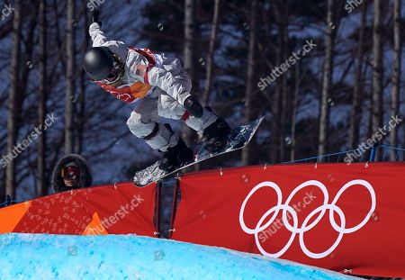 Maddie Mastro of the US in action during the Women's Snowboard Halfpipe final at the Bokwang Phoenix Park during the PyeongChang 2018 Olympic Games, South Korea, 13 February 2018.