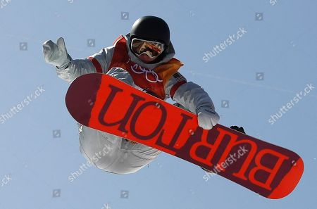 Kelly Clark of the US in action during the Women's Snowboard Halfpipe final at the Bokwang Phoenix Park during the PyeongChang 2018 Olympic Games, South Korea, 13 February 2018.