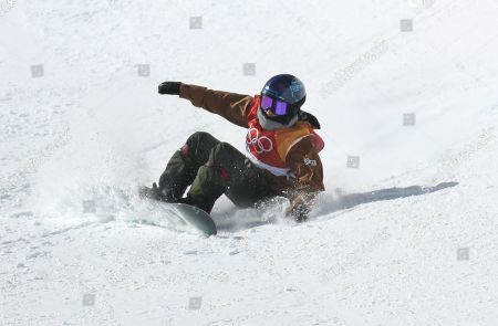 Queralt Castellet of Spain competes in the Women's Snowboard Halfpipe final at the Bokwang Phoenix Park during the PyeongChang 2018 Olympic Games, South Korea, 13 February 2018.