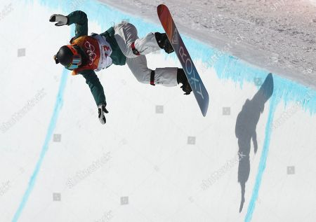 Emily Arthur of Australia in action during competition in the Women's Snowboard Halfpipe final at the Bokwang Phoenix Park during the PyeongChang 2018 Olympic Games, South Korea, 13 February 2018.