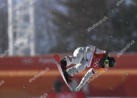Gold medalist in first place, Chloe Kim of the US during action in the Women's Snowboard Halfpipe final at the Bokwang Phoenix Park during the PyeongChang 2018 Olympic Games, South Korea, 13 February 2018.