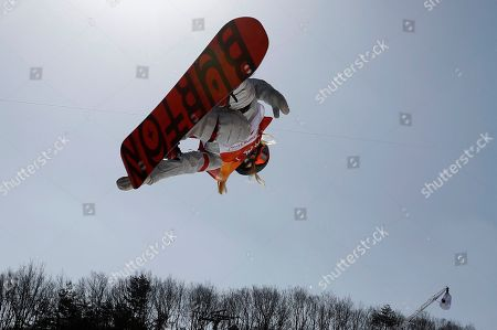 Chloe Kim of the US in action during the Women's Snowboard Halfpipe final at the Bokwang Phoenix Park during the PyeongChang 2018 Olympic Games, South Korea, 13 February 2018.