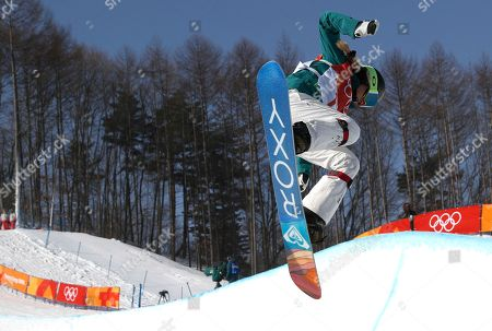 Emily Arthur of Australia in action during the Women's Snowboard Halfpipe final at the Bokwang Phoenix Park during the PyeongChang 2018 Olympic Games, South Korea, 13 February 2018.