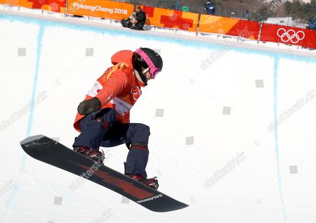 Sophie Rodrigues of France in action during the Women's Snowboard Halfpipe final at the Bokwang Phoenix Park during the PyeongChang 2018 Olympic Games, South Korea, 13 February 2018.