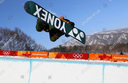 Queralt Castellet of Spain in action during the Women's Snowboard Halfpipe final competition at the Bokwang Phoenix Park during the PyeongChang 2018 Olympic Games, South Korea, 13 February 2018.