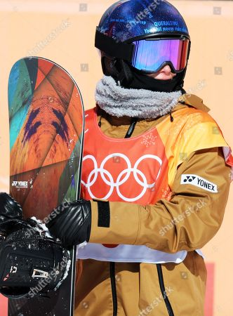 Queralt Castellet of Spain after her second run during the Women's Snowboard Halfpipe final competition at the Bokwang Phoenix Park during the PyeongChang 2018 Olympic Games, South Korea, 13 February 2018.