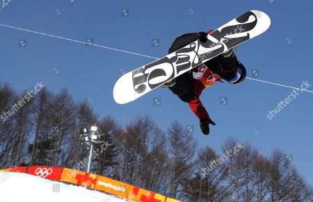 Liu Jiayu of China in action during the Women's Snowboard Halfpipe final at the Bokwang Phoenix Park during the PyeongChang 2018 Olympic Games, South Korea, 13 February 2018.