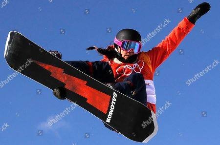 Sophie Rodriguez of France in action during the Women's Snowboard Halfpipe final at the Bokwang Phoenix Park during the PyeongChang 2018 Olympic Games, South Korea, 13 February 2018.