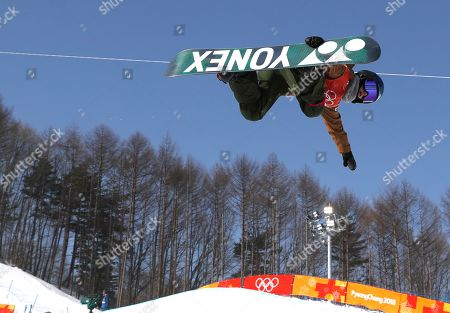 Queralt Castellet of Spain in action during the Women's Snowboard Halfpipe final at the Bokwang Phoenix Park during the PyeongChang 2018 Olympic Games, South Korea, 13 February 2018.
