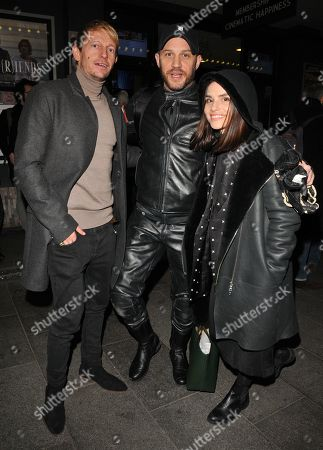 Leo Gregory, Tom Hardy and Charlotte Riley