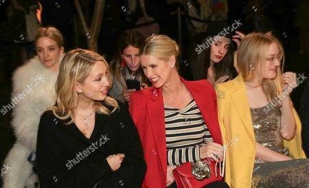 Princess Maria-Olympia of Greece and Denmark, Nicky Hilton Rothschild. Princess Maria-Olympia of Greece and Denmark, left, and businesswoman Nicky Hilton Rothschild attend the Oscar De La Renta 2018 Fall/Winter Runway Show during New York Fashion Week at the Cunard Building on in New York