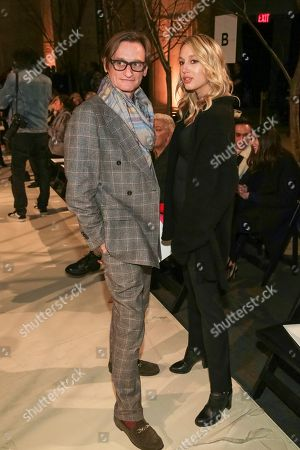 Hamish Bowles, Princess Maria-Olympia of Greece and Denmark. Hamish Bowles, left, and Princess Maria-Olympia of Greece and Denmark attend the Oscar de la Renta 2018 Fall/Winter Runway Show during New York Fashion Week at the Cunard Building on in New York