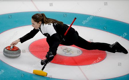 PyeongChang Winter Olympic Games Curling Mixed Doubles Stock
