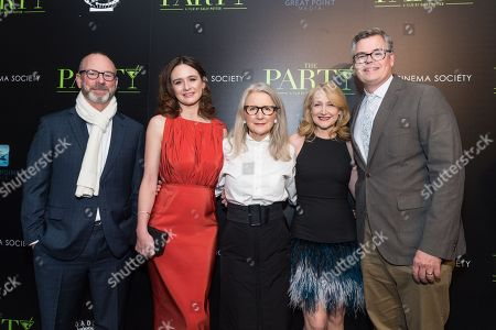 Guest, Emily Mortimer, Sally Potter, Patricia Clarkson and Eric d'Arbeloff