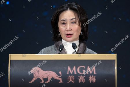 MGM China Holdings Limited co-chairperson and Executive Director Pansy Ho speaks during a press conference before the opening of the casino in Macau, China, 13 February 2018. The US3.4 billion, Euros2.75 billion, integrated resort is the latest addition to Macau, the only territory of China where gambling is legal.