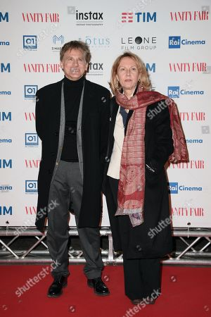 Giulio Scarpati with wife Nora Venturini