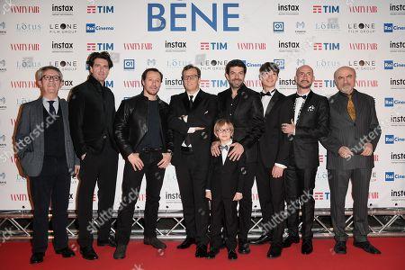 The director Gabriele Muccino and cast Giampaolo Morelli, Stefano Accorsi, Pierfrancesco Favino, Christian Marconcini, Renato Raimondi, Gianmarco Tognazzi, Ivano Marescotti
