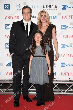 The director Gabriele Muccino with wife Angelica Russo and daughter Penelope