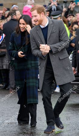 Prince Harry, Meghan Markle at Edinburgh Castle