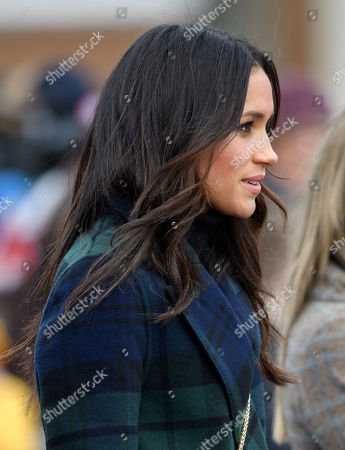 Meghan Markle outside Edinburgh Castle