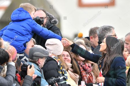 Editorial picture of Prince Harry and Meghan Markle visit to Edinburgh, Scotland - 13 Feb 2018