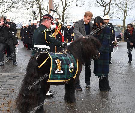 Stock Picture of Prince Harry, Meghan Markle outside Edinburgh Castle