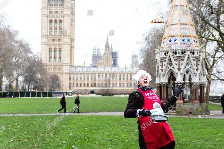 Editorial image of Rehab Parliamentary Pancake Race, London, UK - 13 Feb 2018