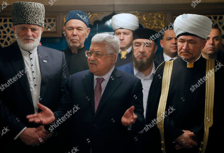 Editorial picture of Palestinian President Mahmoud Abbas visits Russia, Moscow, Russian Federation - 13 Feb 2018