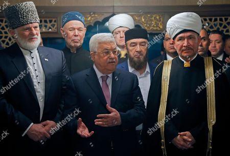 Stock Picture of Mahmoud Abbas and Ravil Gainutdin