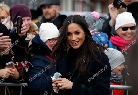 Meghan Markle, fiancee of Britain's Prince Harry arrives at Edinburgh Castle in Edinburgh, Scotland,. The recently engaged couple are on a one day tour to Edinburgh, and will visit the Castle and observe the firing of the One O'clock Gun