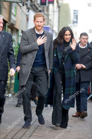 Prince Harry, Meghan Markle visit charity Social Bite shop to meet with organisers and staff and hear about their work with the homeless