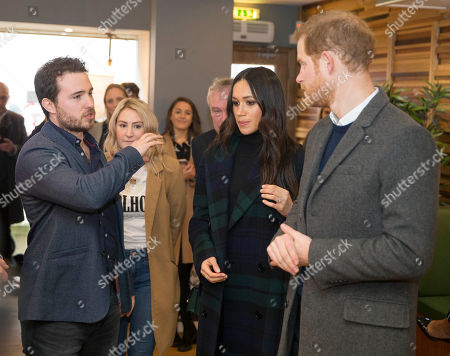 Josh Littlejohn meets Prince Harry, Meghan Markle who are visiting charity Social Bite shop to meet with organisers and staff and hear about their work with the homeless