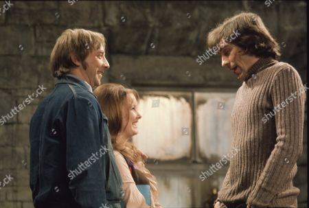Jack Sugden, as played by Andrew Burt ; Janie Harker, as played by Diane Grayson ; Frank Blakey, as played by Eric Allan.