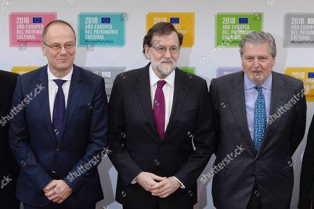 Mariano Rajoy, Tibor Navracsics and Inigo Mendez de Vigo