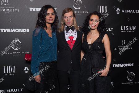 (L-R) Laurence Roustandjee, Christophe Guillarme and Aida Touihri