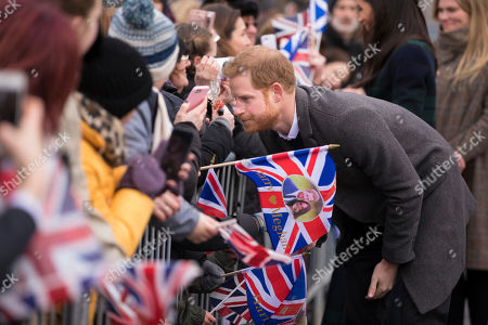 Prince Harry visits Edinburgh Castle in Scotland.