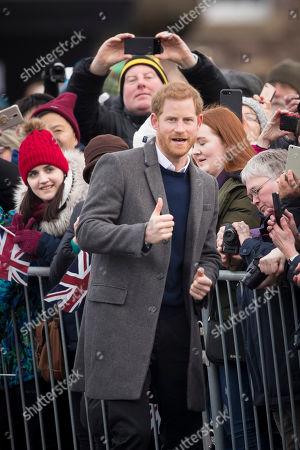 Prince Harry visits Edinburgh Castle in Scotland.