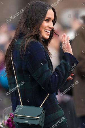 Meghan Markle visits Edinburgh Castle in Scotland.